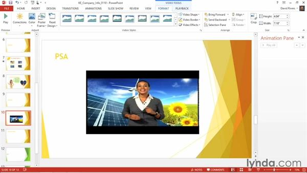 Inserting online video into a slide: PowerPoint 2013 Power Shortcuts