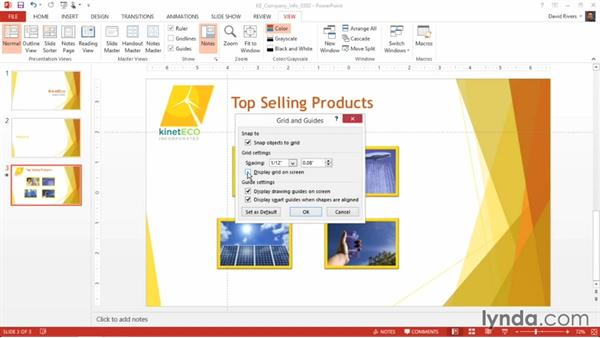 Enabling grids and gridlines: PowerPoint 2013 Power Shortcuts