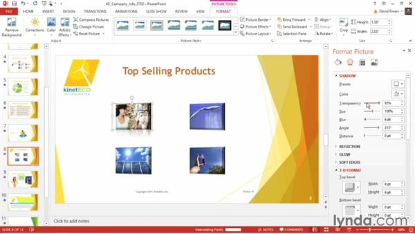 Applying advanced picture effects: PowerPoint 2013 Power Shortcuts