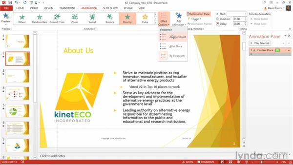 Animating bulleted lists: PowerPoint 2013 Power Shortcuts