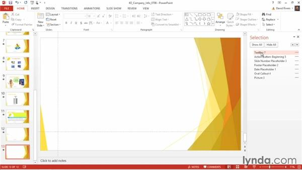 Using the Selection pane: PowerPoint 2013 Power Shortcuts