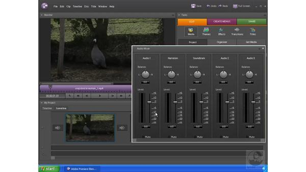 Working with audio: Premiere Elements 4 Essential Training