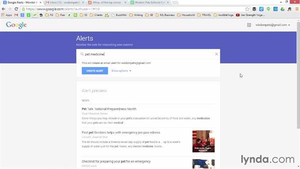 Generate ideas using Google Alerts: Creating Better Blog Content