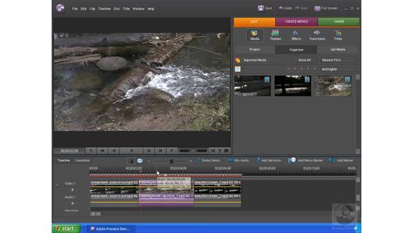 Using a consistent audio source: Premiere Elements 4 Essential Training