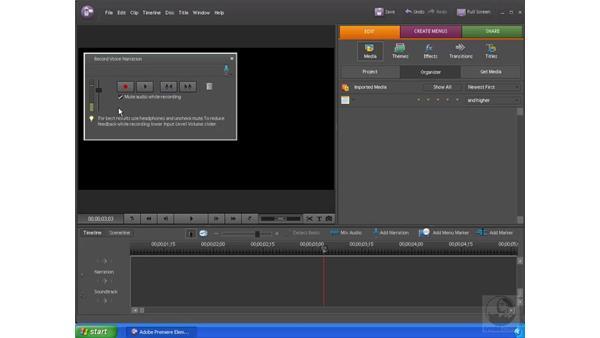 Recording narration: Premiere Elements 4 Essential Training