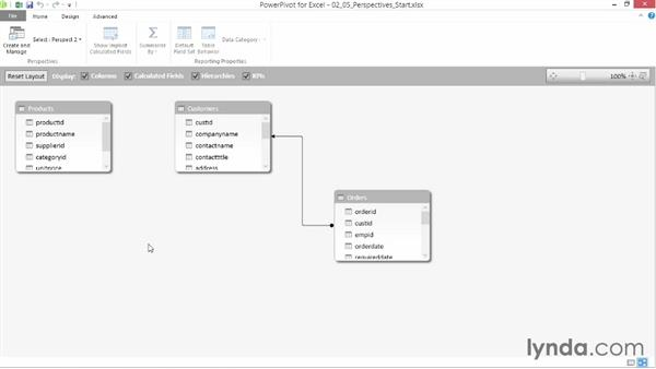 Understanding perspectives: Data Modeling with Excel Power Pivot