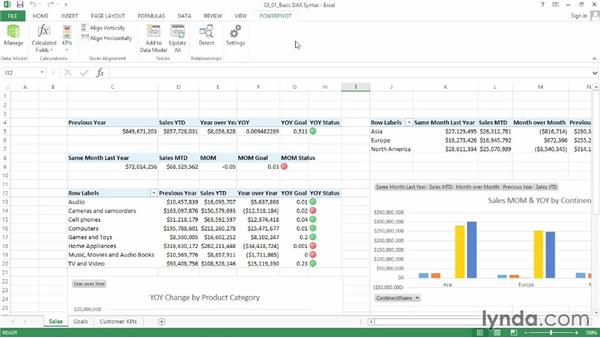 Using the DAX coding interfaces: Data Modeling with Excel Power Pivot