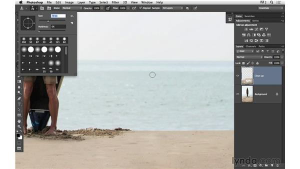 Retouching with the Clone Stamp: Portrait Project: Fixing a Distracting Background