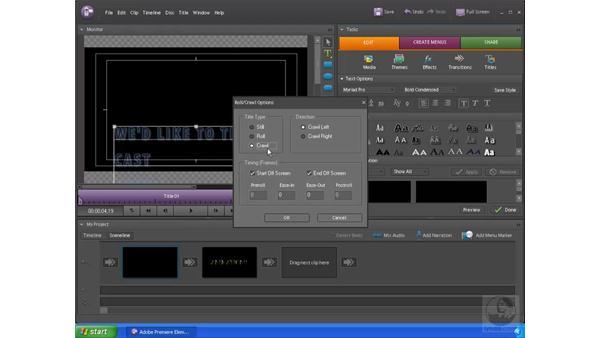 Animating credits: Premiere Elements 4 Essential Training