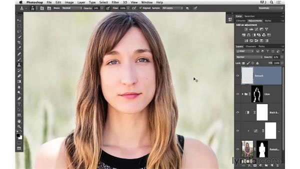 Retouching the face and improving the eyes: Portrait Project: Fixing a Distracting Background