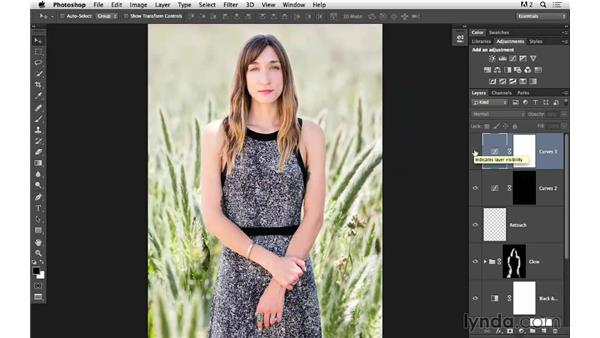 Adding curves and reviewing the final image: Portrait Project: Fixing a Distracting Background