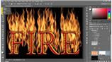 Image for 370 Blending synthetic flames with type