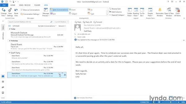 Controlling conversations in Outlook: Weekly Office Workshop