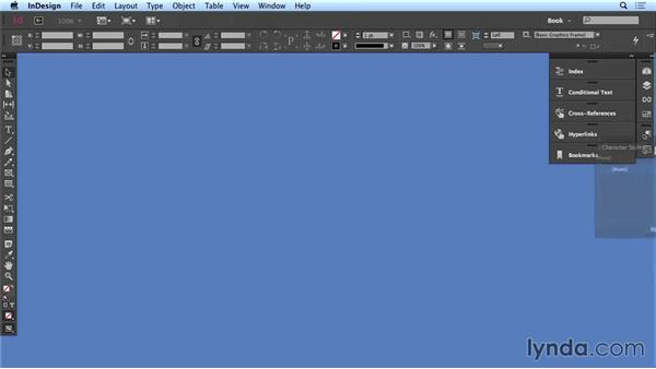 Creating a long-document workspace: Creating Long Documents with InDesign CC