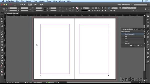 Using master pages: Creating Long Documents with InDesign CC
