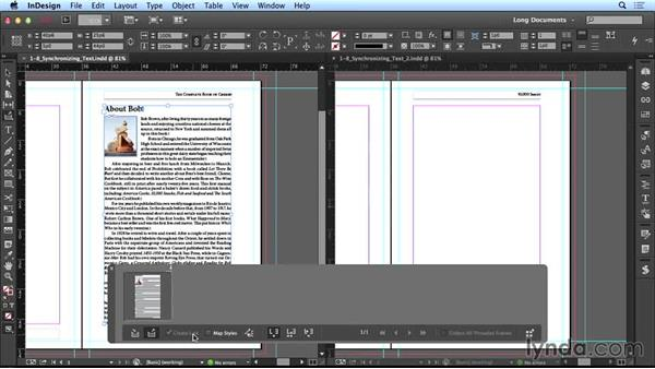 Synchronizing text: Creating Long Documents with InDesign CC
