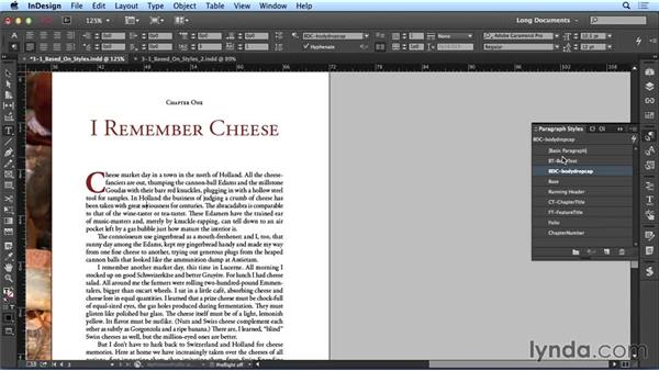 Using based-on styles: Creating Long Documents with InDesign CC