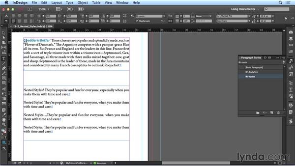 Using nested styles: Creating Long Documents with InDesign CC