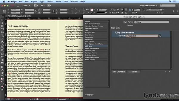 Using GREP styles: Creating Long Documents with InDesign CC