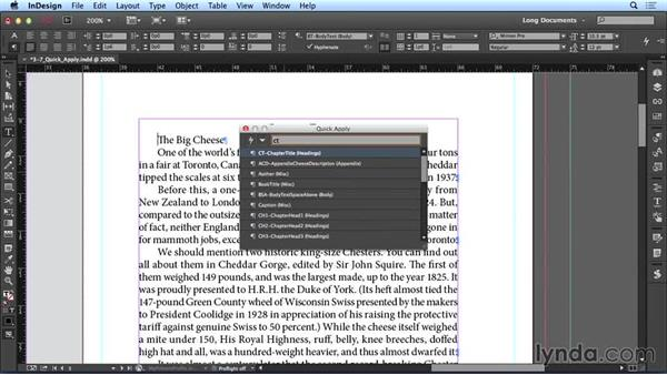 Using Quick Apply: Creating Long Documents with InDesign CC