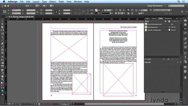 Placing images: Creating Long Documents with InDesign CC