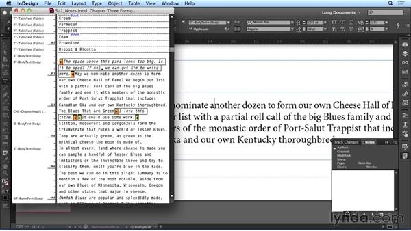 Using notes: Creating Long Documents with InDesign CC