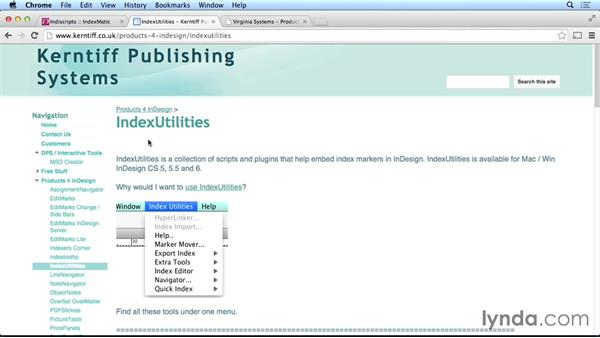 Using third-party indexing tools: Creating Long Documents with InDesign CC