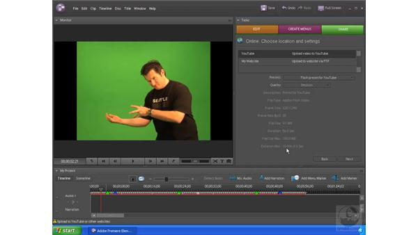 Exporting to YouTube: Premiere Elements 4 Essential Training
