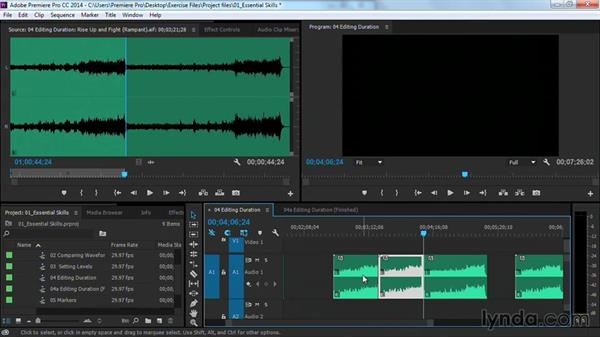 How to change the duration of music with editing: Premiere Pro Guru: Cutting with Music