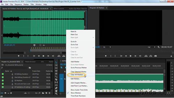 Placing markers on the beat: Premiere Pro Guru: Cutting with Music