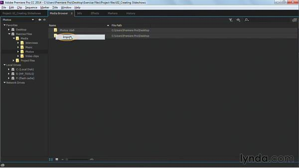 Importing and organizing images for the edit: Premiere Pro Guru: Cutting with Music