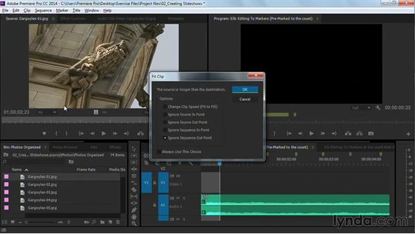 Editing to markers: Premiere Pro Guru: Cutting with Music