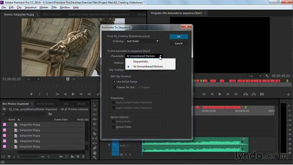 Editing with the Automate to Sequence command: Premiere Pro Guru: Cutting with Music