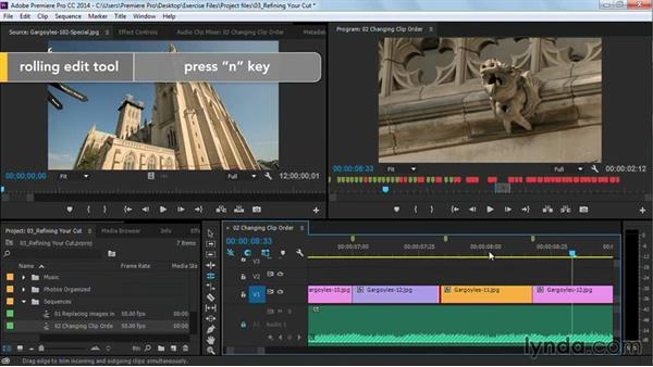 Changing clip order: Premiere Pro Guru: Cutting with Music