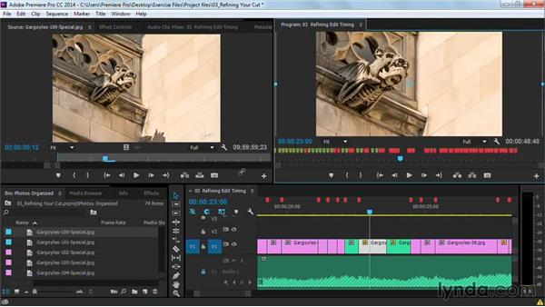 Refining edit timing: Premiere Pro Guru: Cutting with Music