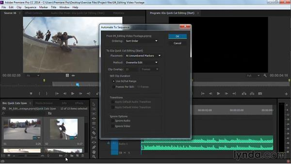 Quick-cut editing: Premiere Pro Guru: Cutting with Music