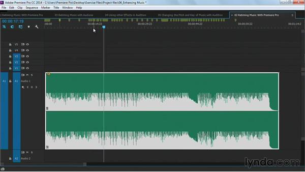 Retiming music with Premiere Pro: Premiere Pro Guru: Cutting with Music