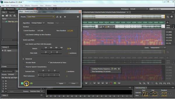 Changing the pitch and key of music with Audition: Premiere Pro Guru: Cutting with Music