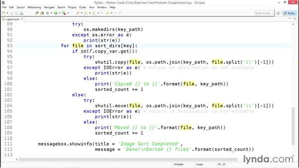 Creating directories and relocating files: Code Clinic: Python