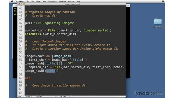 Organize images by caption: Code Clinic: Ruby