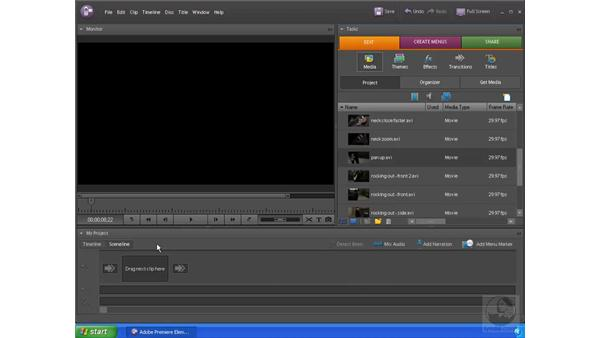 Arranging the clips: Premiere Elements 4 Essential Training