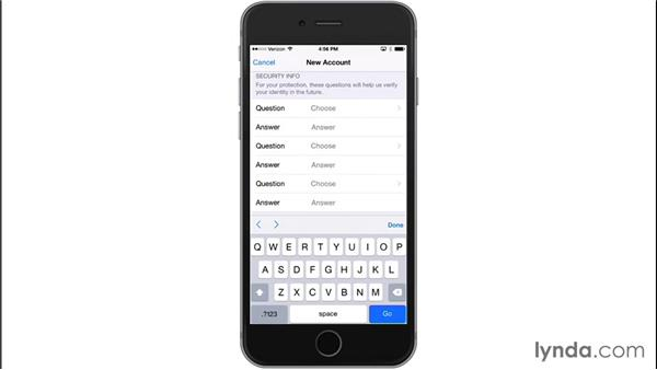 Setting up an Apple ID with your iOS device: iOS 8: iPhone and iPad Essential Training