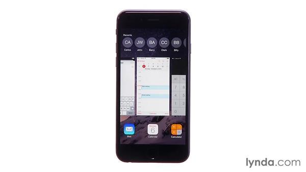 Multitasking: iOS 8: iPhone and iPad Essential Training