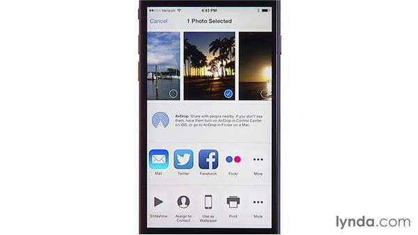 Customizing the sharing options: iOS 8: iPhone and iPad Essential Training