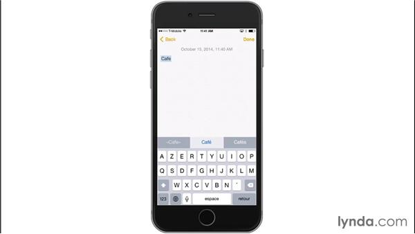 Adding international and emoji keyboards: iOS 8: iPhone and iPad Essential Training