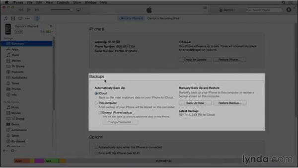 Connecting your device to your Mac or PC: iOS 8: iPhone and iPad Essential Training