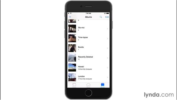 Syncing photos from a PC: iOS 8: iPhone and iPad Essential Training