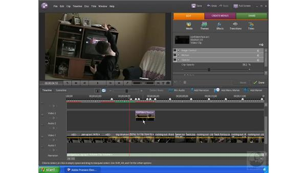 Creating transitions and overlays: Premiere Elements 4 Essential Training