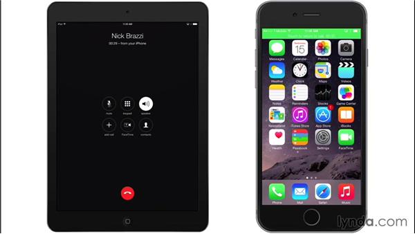 Handing off calls to and from your Mac: iOS 8: iPhone and iPad Essential Training