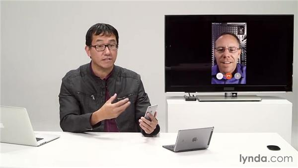 Using FaceTime: iOS 8: iPhone and iPad Essential Training